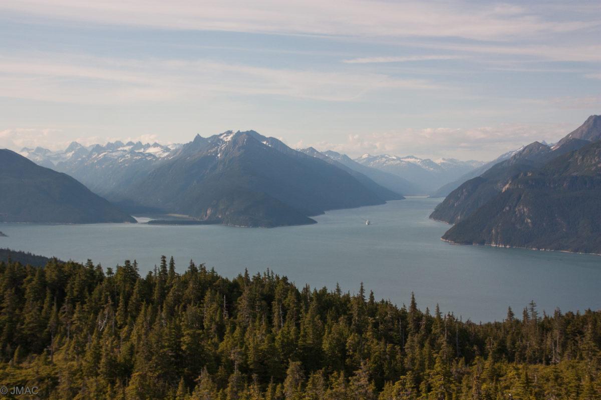 Aussicht auf die Fjorde vom Mount McRiley