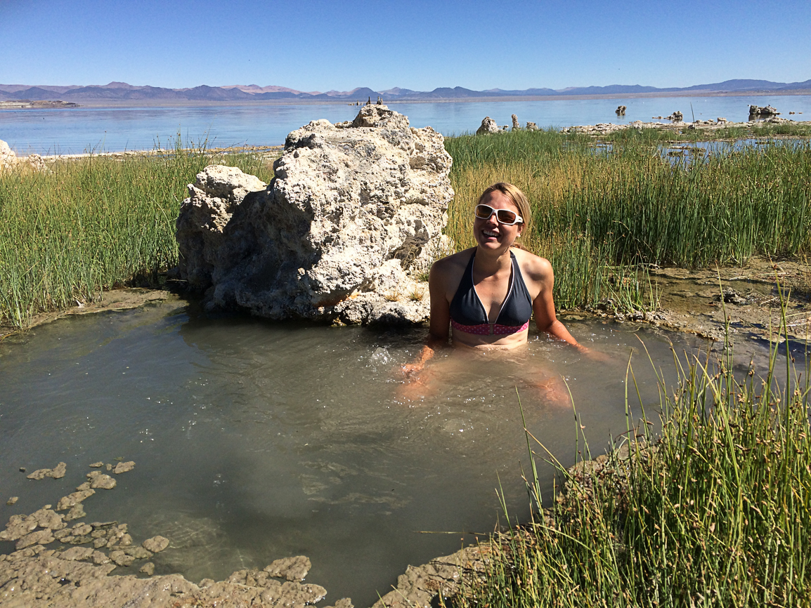 Hot spring am Mono Lake