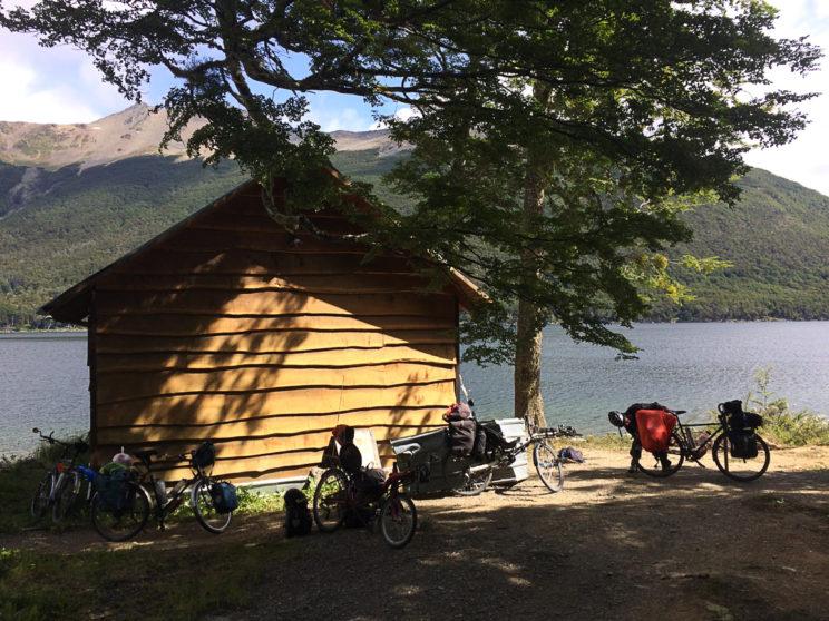 In dieser Hütte übernachteten wir