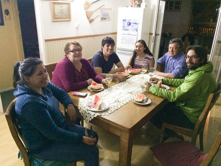 Mit Nicolas und seiner Familie